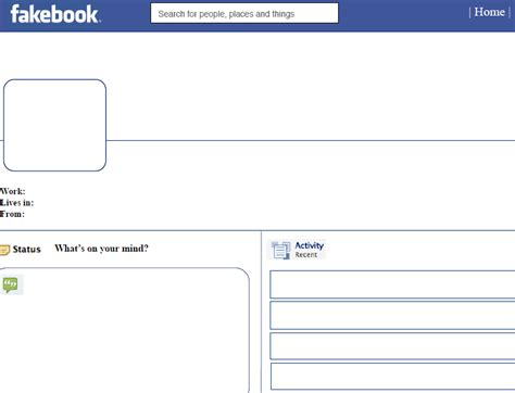 Facebook Template For Student Projects