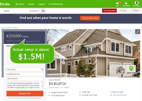 trulia home value by 400 percent