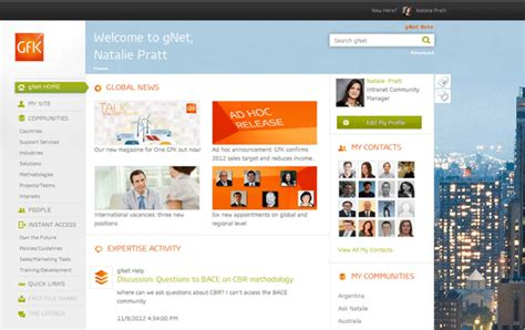 Hr Home by Beautiful Intranet Goes Social The Entries