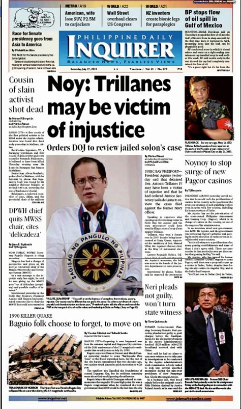 daily news classified section philippines parts of a newspaper october 2014
