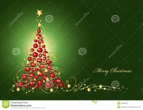 christmas card christmas tree from red christmas balls