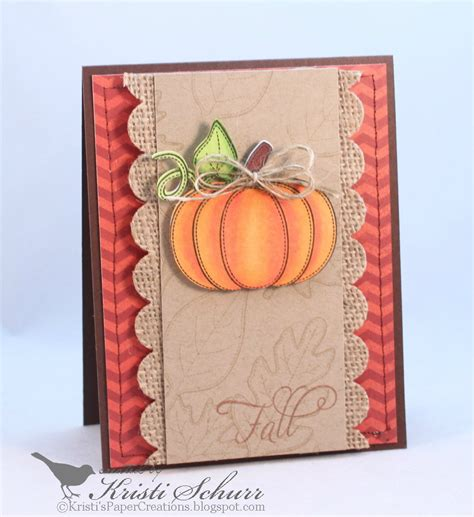 fall cards to make kristi s paper creations fall pumpkin and leaves