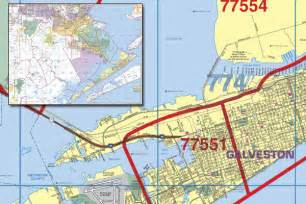 galveston zip code map galveston county wall map with zip codes