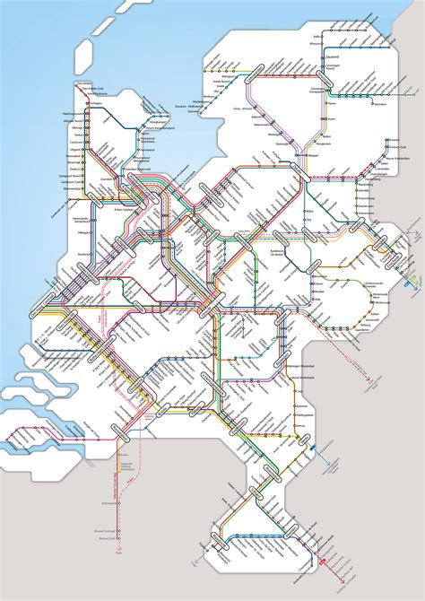 netherlands map detailed large detailed rail network map of netherlands vidiani