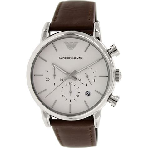 emporio armani ar1846 s classic brown leather quartz