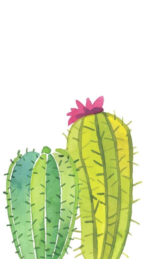 wallpaper for iphone cactus watercolor painting cactus tap to see more beautiful
