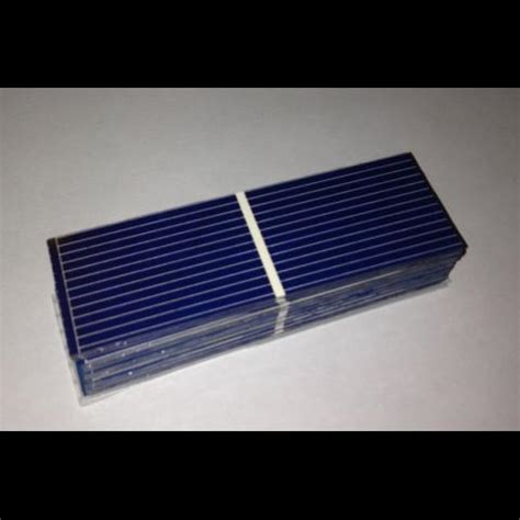 Solar Cell 1 poly solar cell 1 quot x3 quot in 26x78 mm a grade 1 bar 0