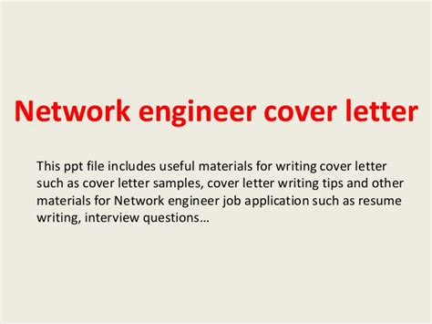 At And T Network Engineer Cover Letter by Network Engineer Cover Letter