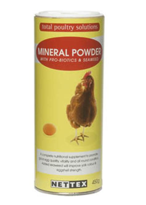 Pigeon Powder 450g net tex mineral powder for chickens total poultry solutions nettex chicken supplement garden