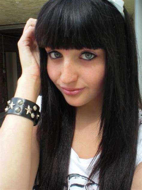 imagenes de chicas emo cortes de cabello y peinados emo para chicas cl 225 sico con