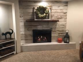 wood tile fireplace barn wood distressed tile planks for fireplace yelp