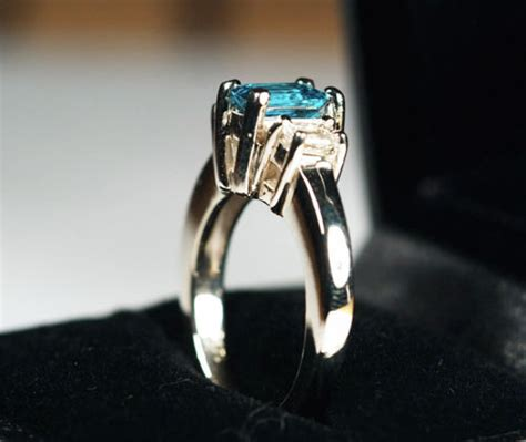 a three engagement ring
