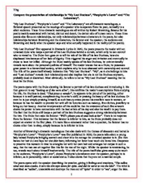 Porphyrias Lover Essay Structure by Porphyria S Lover Essay Porphyria S Lover Analysis Shmoop Oregon Usa