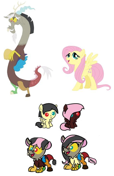 discord transfer ownership fluttershy x discord ship foals by theyareyournightmare on