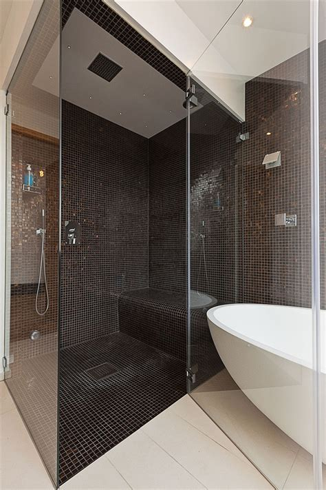 Bathrooms With Walk In Showers Walk In Shower And Bath Tub Decoist