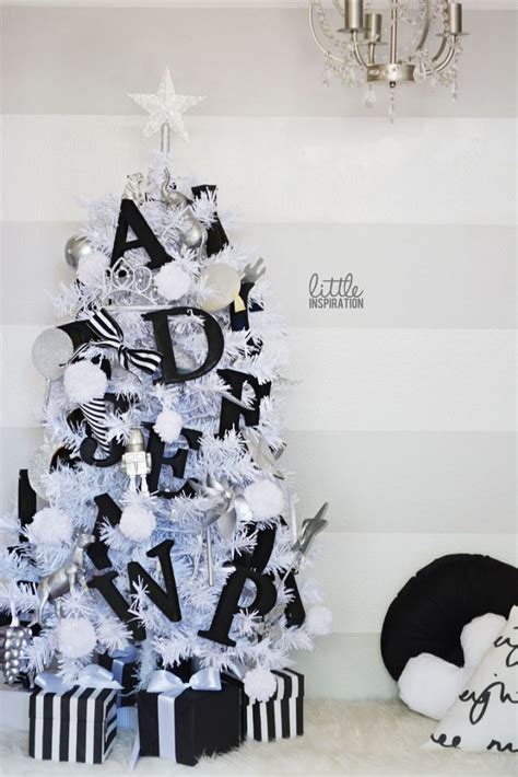 outstanding black and white christmas tree decorations 86