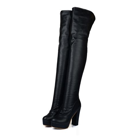 black thigh high boots size 10 boot ri