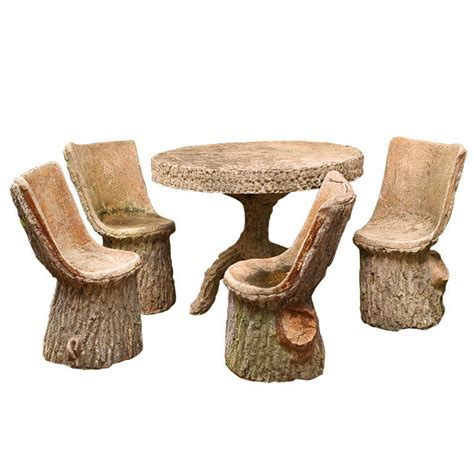 Faux Bois Furniture by Faux Bois Table And Four Chairs At 1stdibs