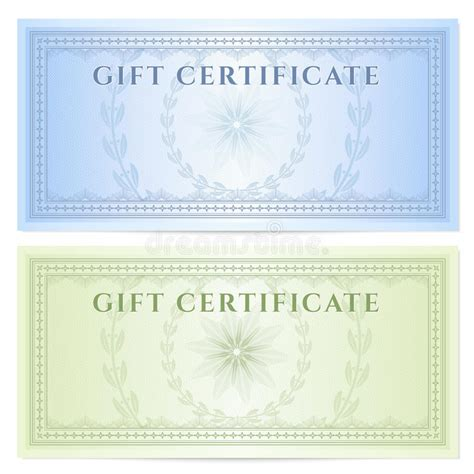 gift certificate voucher template  pattern royalty  stock  image