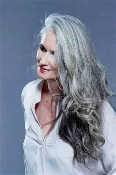 hair styles for white haired 90 year olds 2015 best hot women with gray silver hair images on pinterest
