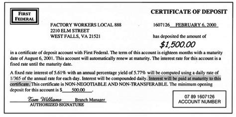 certificate of deposit template u s department of labor office of labor management