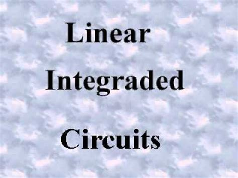 lesson plan for linear integrated circuits linear integrated circuits lesson plan 28 images communicationtrade sell 5962 8876001pa