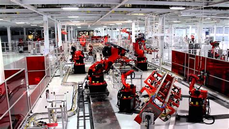 tesla factory tesla model s factory tour youtube