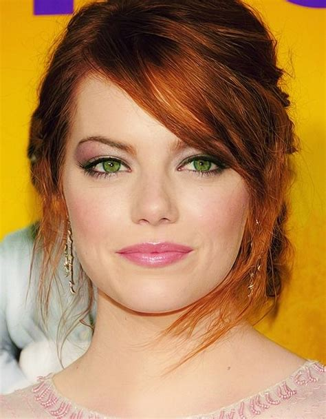 celebrities with red hair and green eyes 10 celebrities with beautiful green eyes