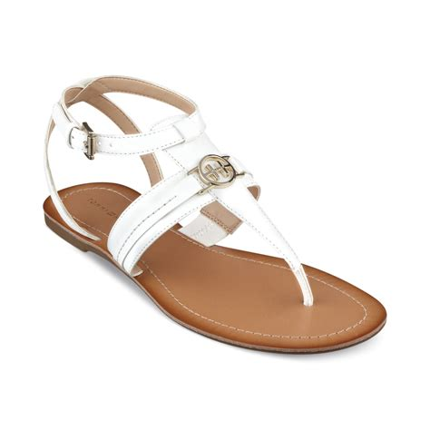 hilfiger flat shoes lyst hilfiger womens lorine flat sandals in