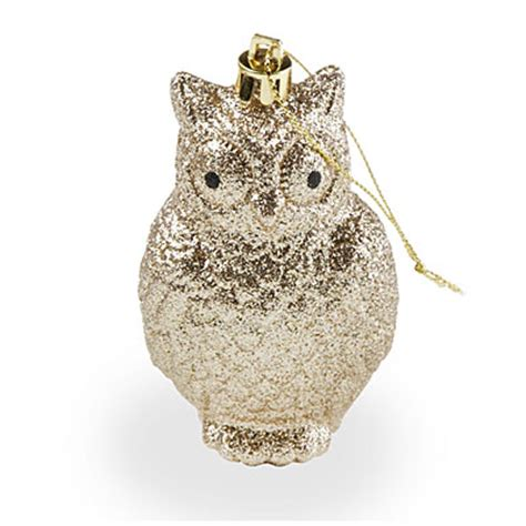 view gold glitter owl ornaments 5 pack deals at big lots