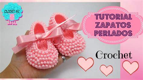 imagenes bonitas de zapatitos de bebe zapatos perlados para beb 233 a crochet todas las tallas