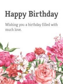 happy birthday flower card messages garden flower happy birthday card birthday greeting