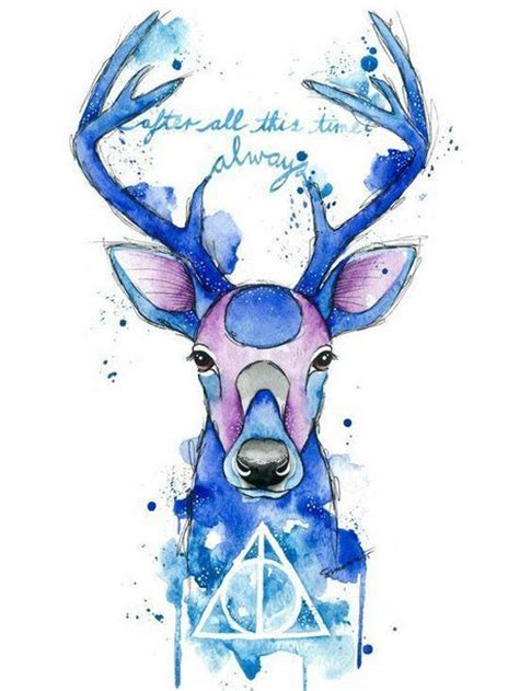 cing tattoo designs watercolor harry potter patronus design