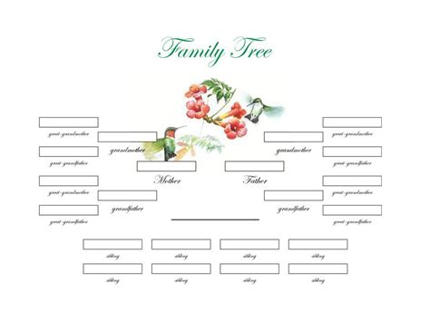 excel family tree template family tree with cousins aunts and uncles www pixshark