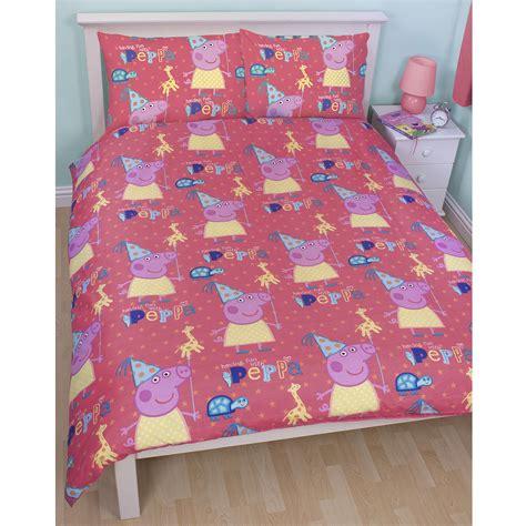 peppa pig curtains and bedding peppa pig funfair bedroom range duvet covers junior