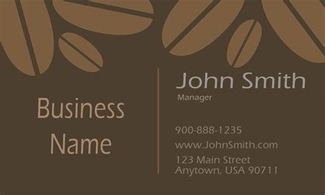 cafe business card template tea and coffee shop business card design 1001061