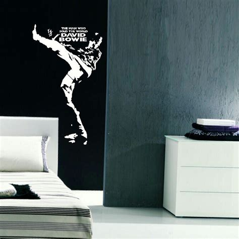 large bedroom wall stickers david bowie man sold world large bedroom wall big mural art sticker decal vinyl