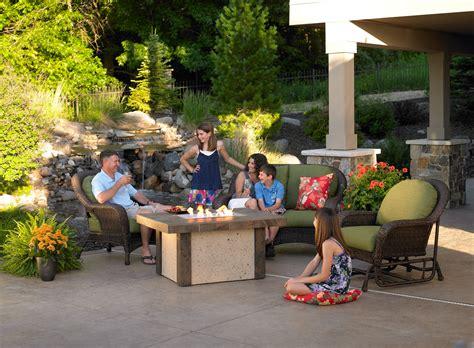 patio furniture boise backyard cement tile pit