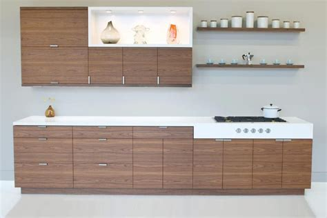 floor to ceiling quartered walnut echowood veneer cabinet shown in walnut with horizontal grain cabinets walnut