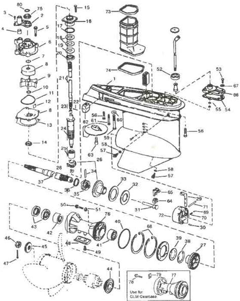 evinrude lower unit diagram evinrude johnson outboard parts v4 gearcase drawing