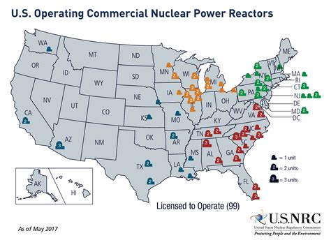 map us nuclear plants nrc map of power reactor