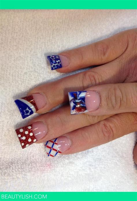 red acrylic 4th of july nils 4th of july nails nika b s photo beautylish