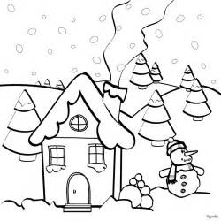 christmas house coloring pages hellokids com
