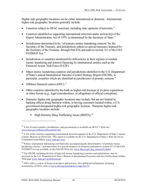 usa patriot act section 311 bank secrecy act bsa anti money laundering