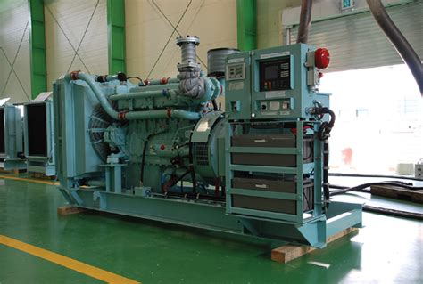 marine emergency diesel generator set korean machinery