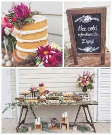 Rustic Bridal Shower Kara S Party Ideas Rustic Bridal Shower Party Planning Ideas Decor Styling Design