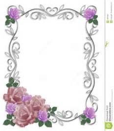 wedding invitation border roses stock illustration image