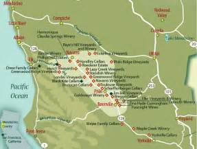 wineries in southern california map rural cosmopolitanism in mendocino county s