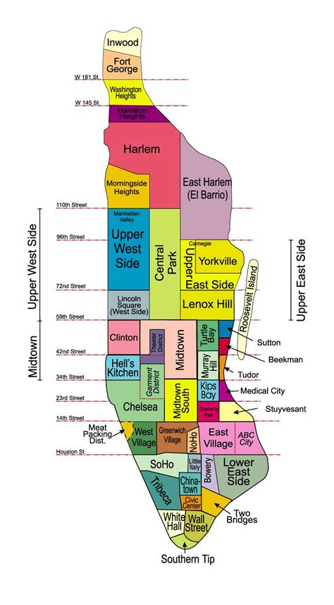 manhattan map neighborhoods of manhattan