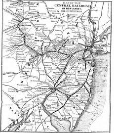 central of railroad map the central railroad of new jersey